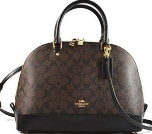 Coach brown handbag worn once $395